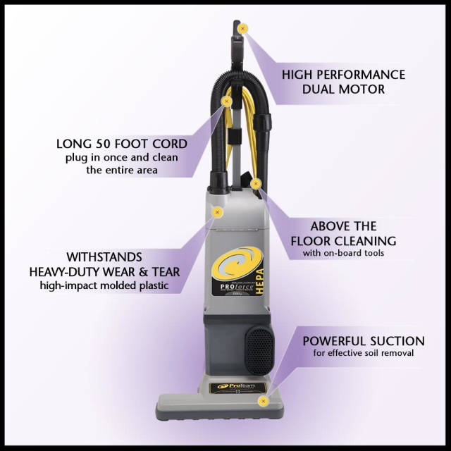 Proforce 1500xp Hepa Upright Vacuum W On Board Tools